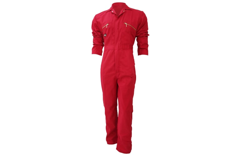 Dickies Redhawk Zip Front Coverall Tall / Mens Workwear (Pack of 2) (Red) (40W x Long)