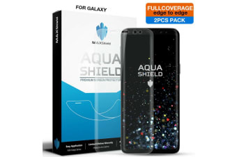 2x Fullcoverage Galaxy Note 8 Screen Protector, MaxShield Aqua Crystal for Samsung