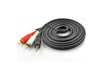 1.5m 3.5mm Audio Cable to 2 RCA Male Aux Cable Stereo AUX Long Cable Auxiliary Audio Hi-Fi Adapter