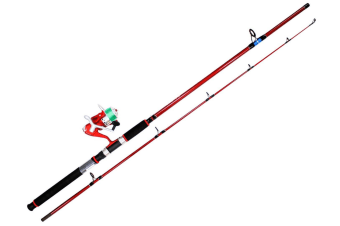 Surecatch Red Eye Fishing Rod and Reel Spin Combo Spooled with Line