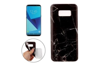For Samsung Galaxy S8 Case Elegant Marble Pattern Durable Protective Cover Black