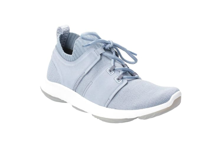 Hush Puppies Womens World BounceMax Lace Up Trainer (Dusty Blue) (4 UK)