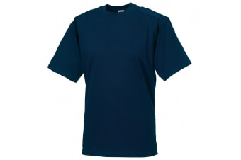 Russell Europe Mens Workwear Short Sleeve Cotton T-Shirt (French Navy) (4XL)