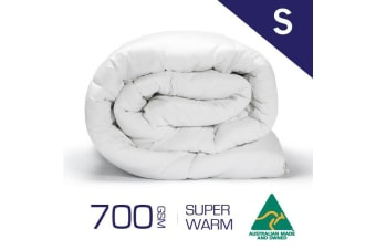 Single Size 700GSM 100% Australian Made Merino Wool Quilt/Duvet/Doona