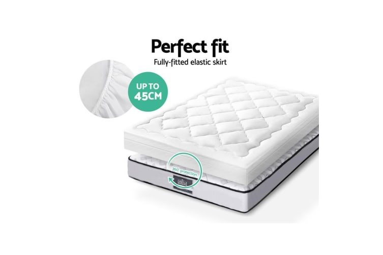 Giselle Bedding Mattress Topper Queen Protector Cover 1000GSM Pillowtop Underlay