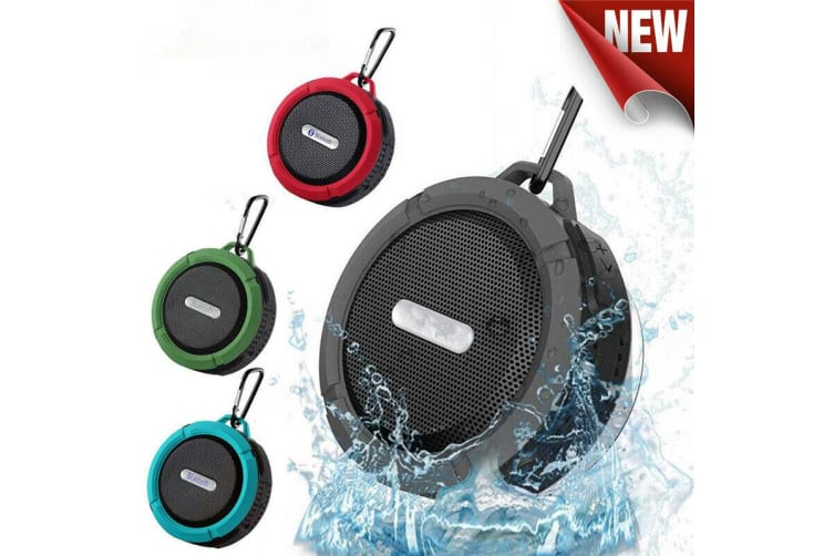 WaterProof Wireless Mini Bluetooth Speaker Outdoor Rech rgeable Portable Shower-Black