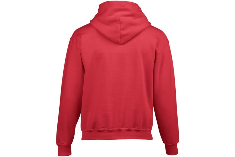 Gildan Heavy Blend Childrens Unisex Hooded Sweatshirt Top / Hoodie (Red) (XS)