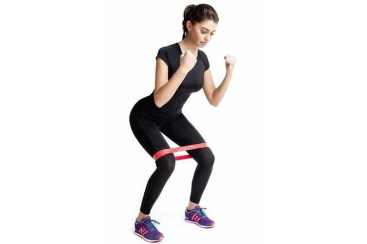 Flat Band Loop Exercise Pilates Yoga Heavy Resistance Physio Stretch Pink