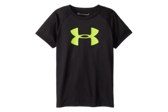 Under Armour Boys' UA Tech Big Logo S/S T-Shirt (Black/Yellow)