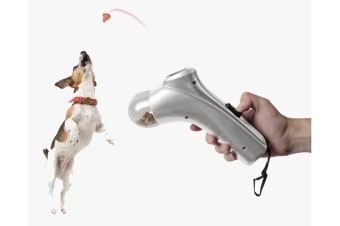TODO Pet Feeder Treat Snack Launcher Dog Feeder Training Tool Food Launch - Silver