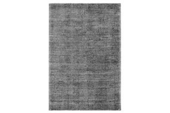 Cloud Black Cotton Rayon Rug 225X155cm