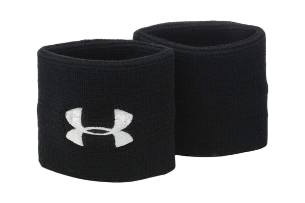 newest 94174 ffd0c Under Armour Performance Wristbands (Black White)