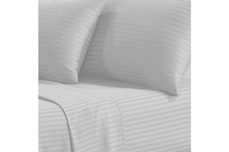 Corinna 1500TC Cotton Rich Bed Sheet Set - King White