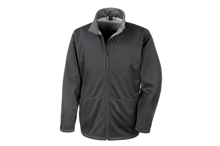 Result Core Mens Soft Shell 3 Layer Waterproof Jacket (Black) (S)