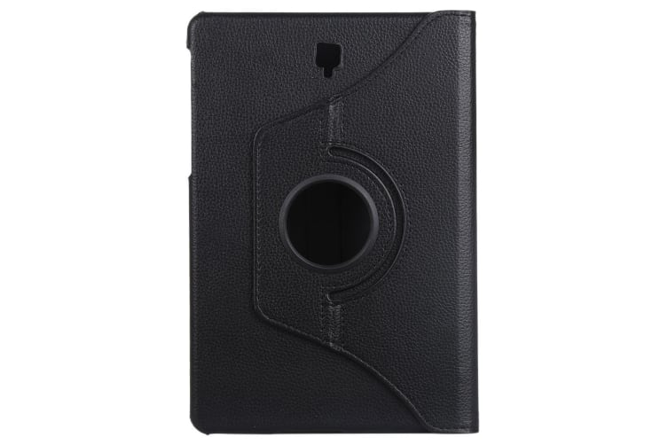 For Samsung Galaxy Tab S4 10.5in Case Black Lychee Texture Folio Leather Case