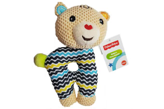 Fisher Price Bear First Rattle Educational Toy w/Teether Nursery/Baby/Infant 0m+