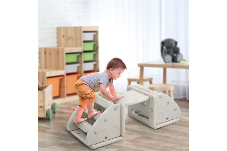 Kidbot Childs Toddlers Climbing Frame Activity Play Centre Toys-Grey