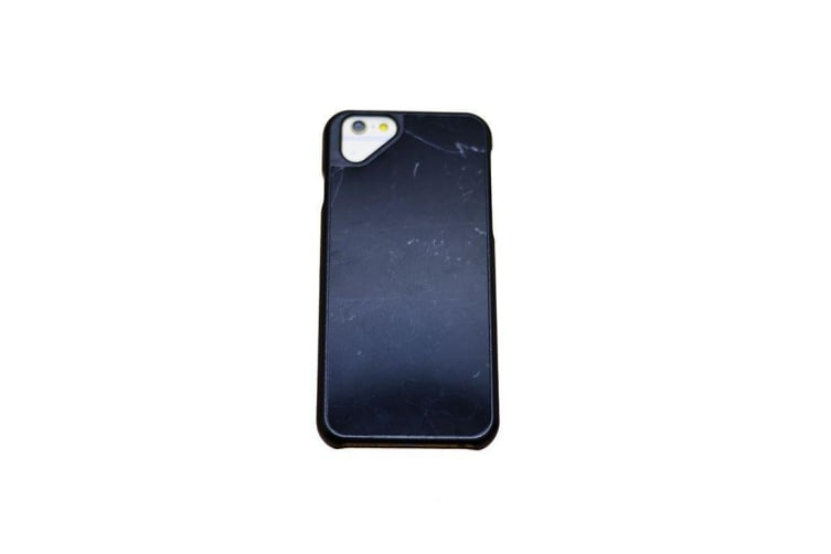 new products 3b92b e7827 For iPhone 6 6S Black Thin Genuine Marble Case
