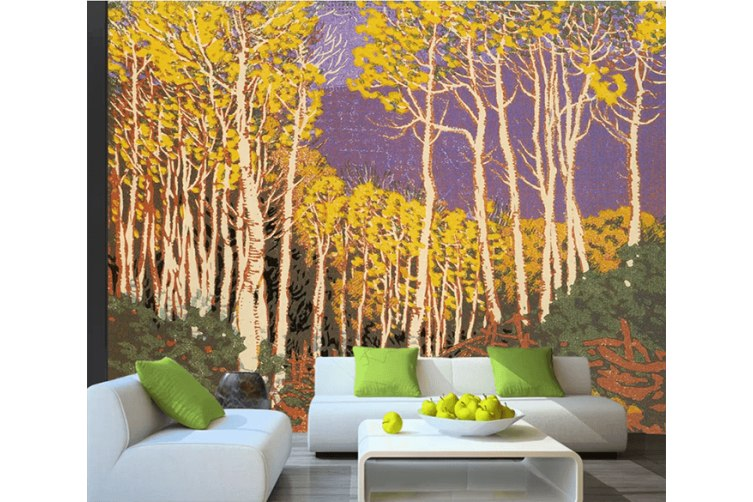 3D Color Carving Forest Landscape 1623 Self-adhesive Vinyl, XXXXL 520cm x 290cm (WxH)(205''x114'')