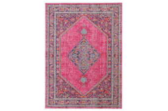 Whisper Diamond Pink Rug 400X300cm