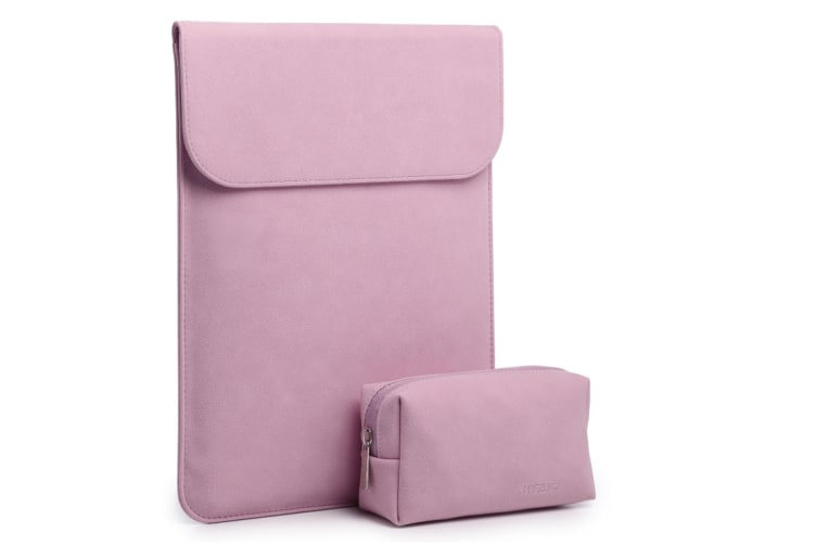 """13.3""""Laptop Sleeve CaseFaux Suede Leather Notebook BagforMacBookAir/Pro with Accessories Pouch"""