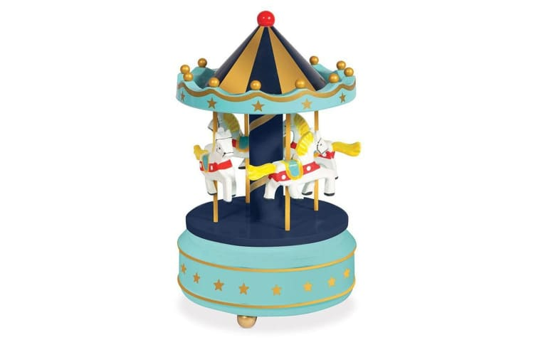 Classic Retro Kids Wind-Up Musical Merry-Go-Round Carousel