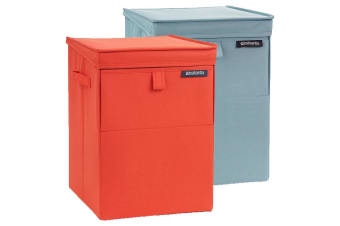 Brabantia 35l Red Mint Stackable Laundry Polyester Box Basket Washing Clothes