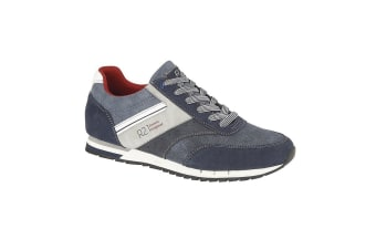 Route 21 Mens 6 Eye Casual Lace Up Trainers (Navy)