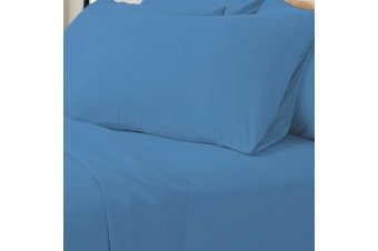 Valeria 1000TC Ultra Soft Double Bed Sheet Set - Blue