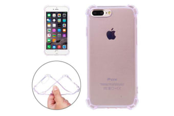For iPhone 8 PLUS 7 PLUS Case Shockproof Grippy Durable Transparent Cover Purple