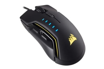 Corsair Gaming GLAIVE RGB Gaming Mouse, Backlit RGB LED, 16000 DPI, Optical, Black