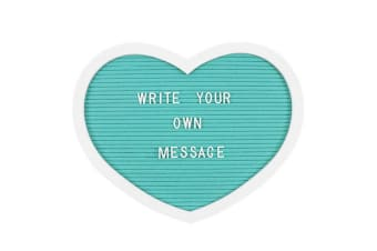Something Different Heart Shaped Letter Board (Turquoise)