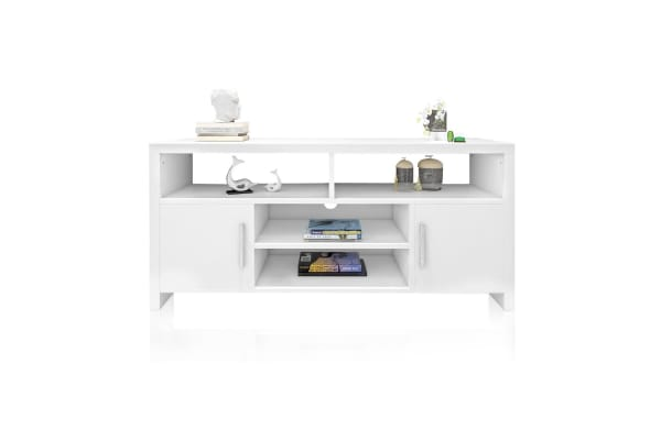 White Wooden TV Stand for TV CDs Magazines