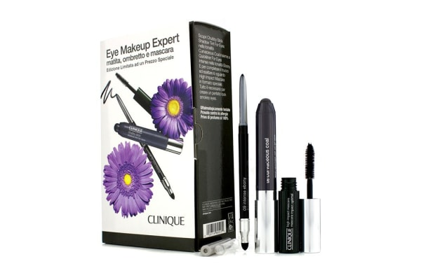 Clinique Eye Makeup Expert (1x Quickliner, 1x Chubby Stick Shadow, 1x High Impact Mascara) - Grey (3pcs)