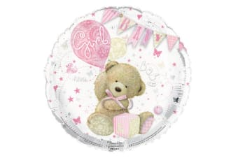 Simon Elvin 18 Inch Its A Baby Girl Polka Dot Foil Balloon (Silver/Pink) (One Size)