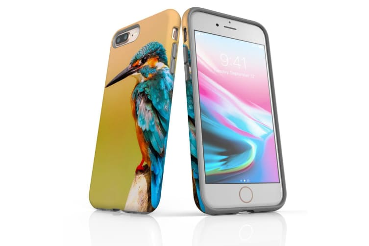 For iPhone 8 Plus Shielding Back Case  Kingfisher