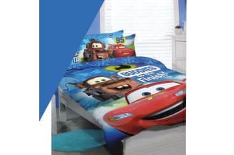 Disney Lighting McQueen Cars Polyester Cotton Licensed Quilt Cover Set Double by Disney