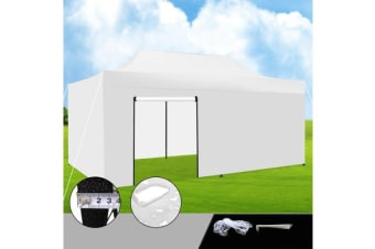 3x6m Gazebo Outdoor PopUp Tent Folding Marquee WHITE