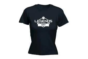 123T Funny Tee - Legends May - (Large Black Womens T Shirt)