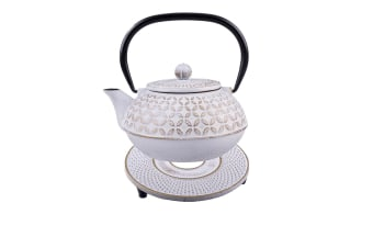 Teaology 900ml Cast Iron Teapot Trivet Set Japanese Style Tea Pot Kettle Stand