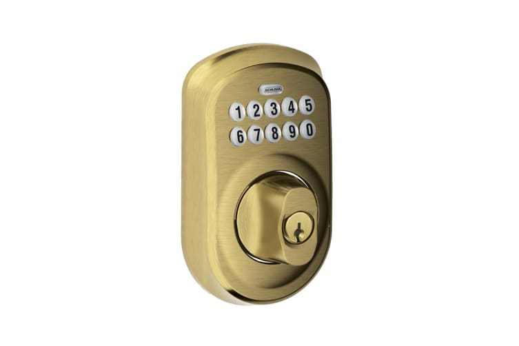 Schlage Keypad Deadbolt with Plymouth Trim (Antique Brass)