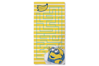 Despicable Me Childrens/Kids Awesome Towel (Yellow/Blue)