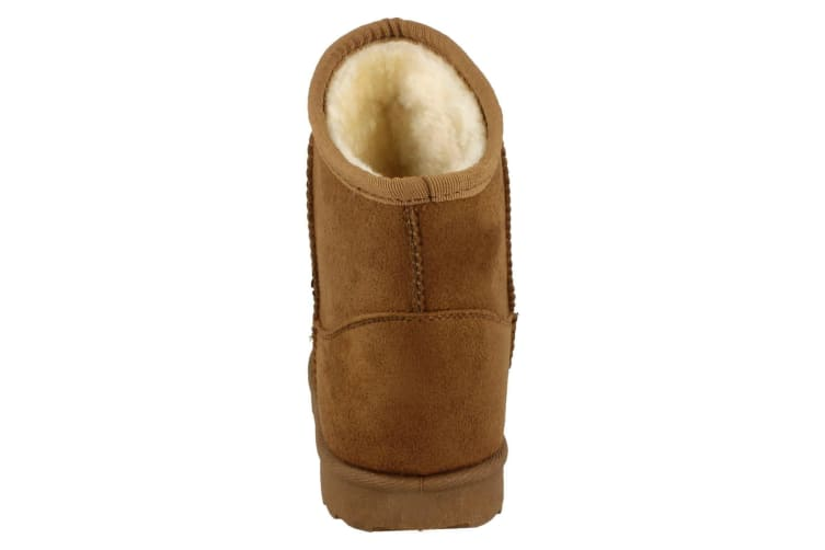 Spot On Girls Fleece Lined Studded Ankle Boots (Tan) (UK Child 11)