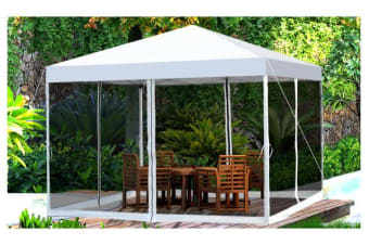 Easy Pop Up Gazebo with Mesh Side Walls Screen House