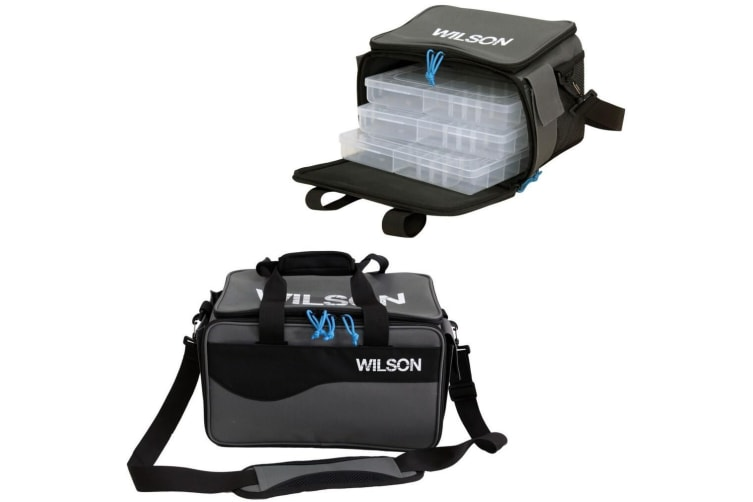 Wilson Medium Fighter Series Fishing Tackle Bag with Three Fishing Tackle Trays