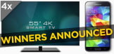"Kogan.com Competition winners announcement: Kogan 55"" 4K TV and Samsung Galaxy S5"