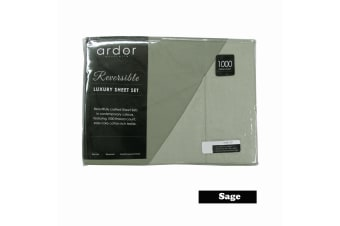 1000TC Cotton Rich Reversible Sheet Set Sage KING by Ardor