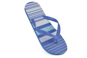 Sandrocks Mens Striped Flip Flops (Blue) (11/12 UK)