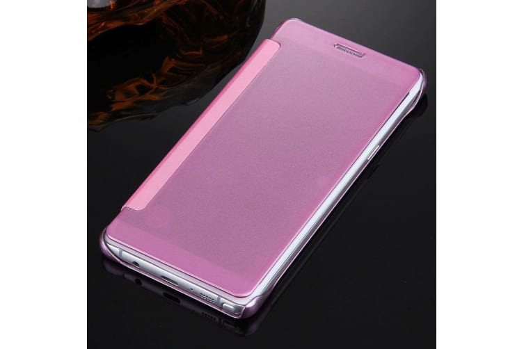 For Samsung Galaxy Note FE Case Fashionable Electroplated Mirror Cover Purple