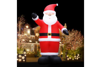 Jingle Jollys Inflatable Christmas Santa Xmas Outdoor Decorations LED Lights 5M